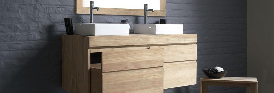 meuble sous vasque bois exotique. Black Bedroom Furniture Sets. Home Design Ideas