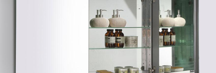 Décoration et design avec l'armoire de toilette miroir